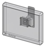 Compact wall mount LCD bracket
