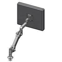 Grommet mount adjustable LCD monitor arm