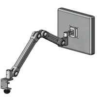 Desk top mount LCD foldable arm
