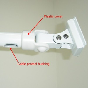 Pole mount LCD dual dental arm