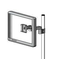 Pole mount LCD extended arm