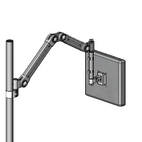 Pole mount foldable arm