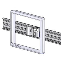 Track mount compact LCD bracket
