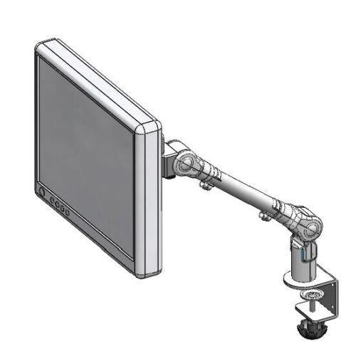 C-clamp mount slim LCD monitor arm