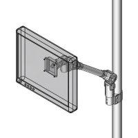 Pole mount slim LCD monitor arm
