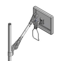Pole mount lift/lock arm