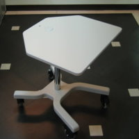#60251 X-shaped base computer mobile cart